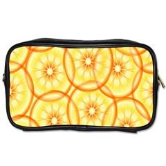 Lemons Orange Lime Circle Star Yellow Toiletries Bags 2 Side