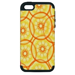 Lemons Orange Lime Circle Star Yellow Apple iPhone 5 Hardshell Case (PC+Silicone)