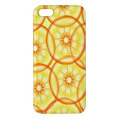 Lemons Orange Lime Circle Star Yellow Apple iPhone 5 Premium Hardshell Case