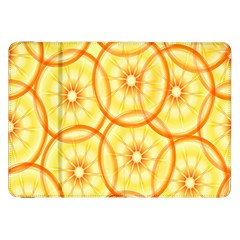 Lemons Orange Lime Circle Star Yellow Samsung Galaxy Tab 8.9  P7300 Flip Case