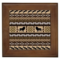 African Vector Patterns  Framed Tiles