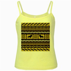 African Vector Patterns  Yellow Spaghetti Tank