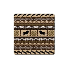 African Vector Patterns  Square Magnet