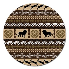 African Vector Patterns  Magnet 5  (Round)