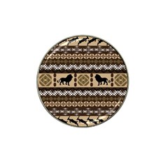 African Vector Patterns  Hat Clip Ball Marker (10 Pack)