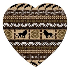 African Vector Patterns  Jigsaw Puzzle (heart)