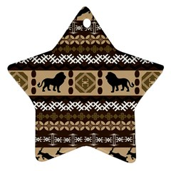 African Vector Patterns  Star Ornament (Two Sides)