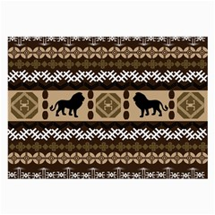 African Vector Patterns  Large Glasses Cloth (2 Side)