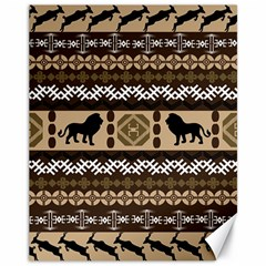 African Vector Patterns  Canvas 11  x 14