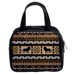 African Vector Patterns  Classic Handbags (2 Sides)