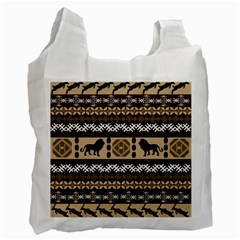 African Vector Patterns  Recycle Bag (one Side)