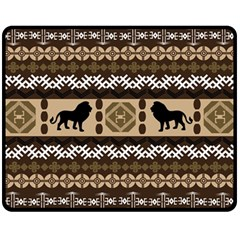 African Vector Patterns  Fleece Blanket (Medium)