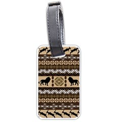 African Vector Patterns  Luggage Tags (one Side)