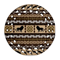 African Vector Patterns  Round Filigree Ornament (two Sides)