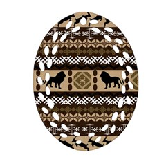 African Vector Patterns  Oval Filigree Ornament (two Sides)