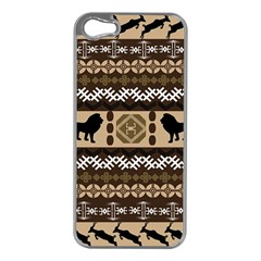 African Vector Patterns  Apple Iphone 5 Case (silver)
