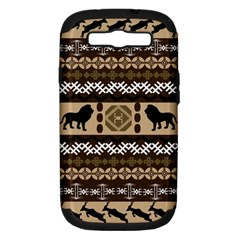 African Vector Patterns  Samsung Galaxy S III Hardshell Case (PC+Silicone)
