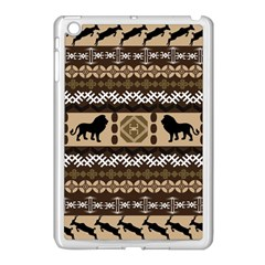 African Vector Patterns  Apple iPad Mini Case (White)