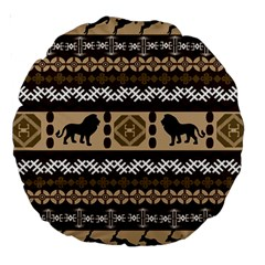African Vector Patterns  Large 18  Premium Round Cushions