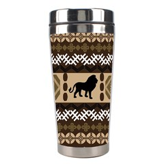 African Vector Patterns  Stainless Steel Travel Tumblers