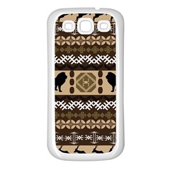 African Vector Patterns  Samsung Galaxy S3 Back Case (white)