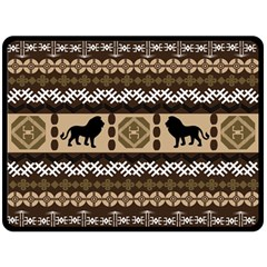 African Vector Patterns  Double Sided Fleece Blanket (large)