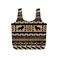 African Vector Patterns  Full Print Recycle Bags (S)