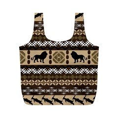 African Vector Patterns  Full Print Recycle Bags (m)
