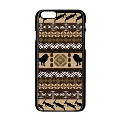 African Vector Patterns  Apple Iphone 6/6s Black Enamel Case