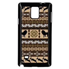 African Vector Patterns  Samsung Galaxy Note 4 Case (Black)