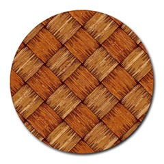 Vector Square Texture Pattern Round Mousepads