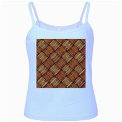 Vector Square Texture Pattern Baby Blue Spaghetti Tank