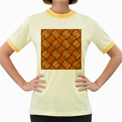 Vector Square Texture Pattern Women s Fitted Ringer T-Shirts