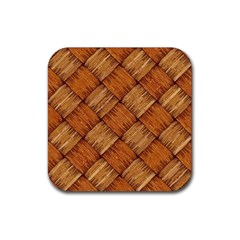 Vector Square Texture Pattern Rubber Square Coaster (4 Pack)