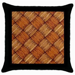 Vector Square Texture Pattern Throw Pillow Case (black)