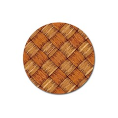 Vector Square Texture Pattern Magnet 3  (Round)