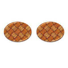 Vector Square Texture Pattern Cufflinks (oval)