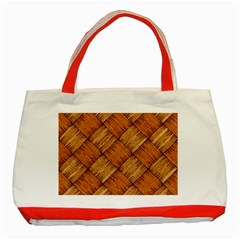 Vector Square Texture Pattern Classic Tote Bag (red)