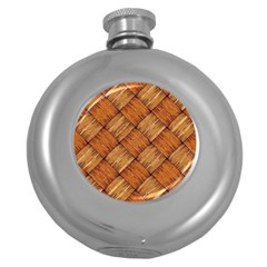 Vector Square Texture Pattern Round Hip Flask (5 Oz)
