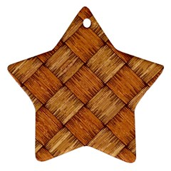Vector Square Texture Pattern Star Ornament (Two Sides)
