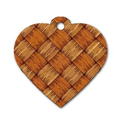 Vector Square Texture Pattern Dog Tag Heart (One Side)