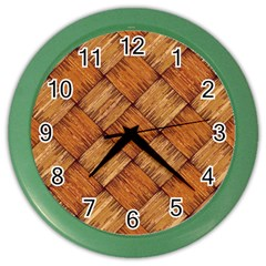 Vector Square Texture Pattern Color Wall Clocks