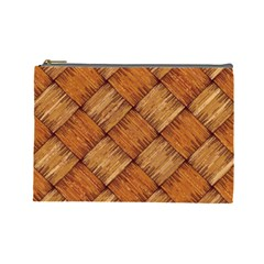 Vector Square Texture Pattern Cosmetic Bag (large)