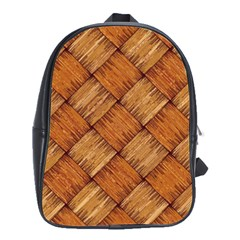 Vector Square Texture Pattern School Bags(Large)