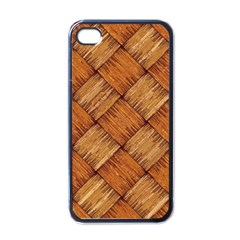 Vector Square Texture Pattern Apple iPhone 4 Case (Black)
