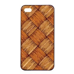 Vector Square Texture Pattern Apple Iphone 4/4s Seamless Case (black)