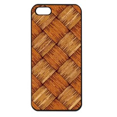 Vector Square Texture Pattern Apple Iphone 5 Seamless Case (black)