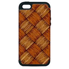 Vector Square Texture Pattern Apple Iphone 5 Hardshell Case (pc+silicone)