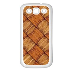 Vector Square Texture Pattern Samsung Galaxy S3 Back Case (white)