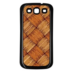Vector Square Texture Pattern Samsung Galaxy S3 Back Case (black)